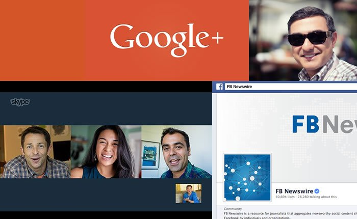 Google+ Skype y Facebook