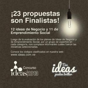 Anuncio finalistas Concurso IDEAS