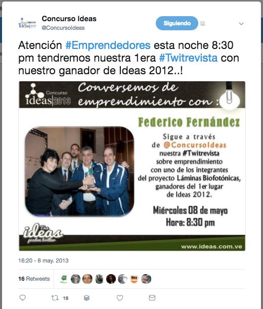 Twitrevista Concurso Ideas