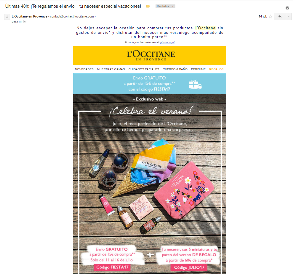promocionales email marketing