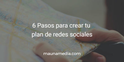 Plan de redes sociales