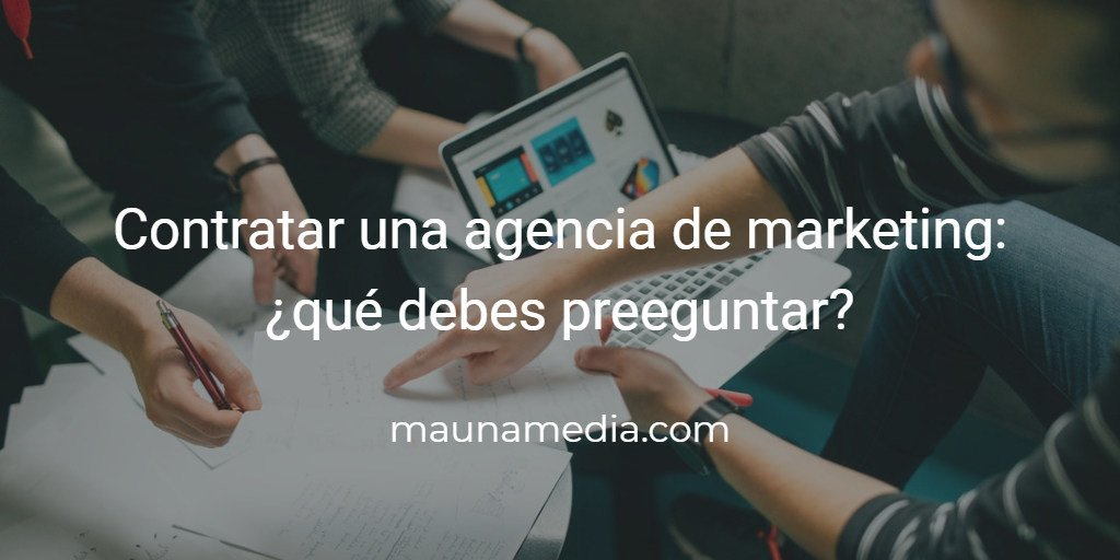 preguntas para una agencia de marketing digital