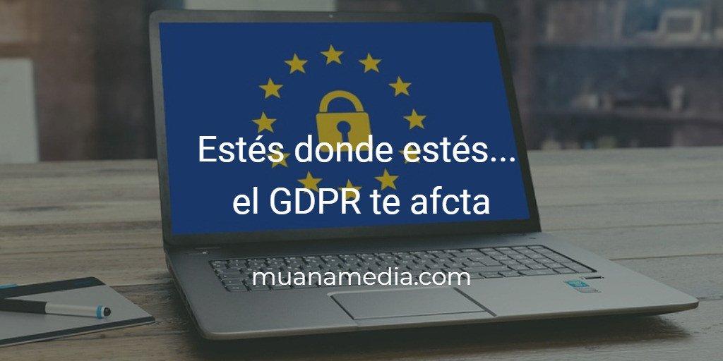 GDPR Reglamento General de Protección de Datos Europa