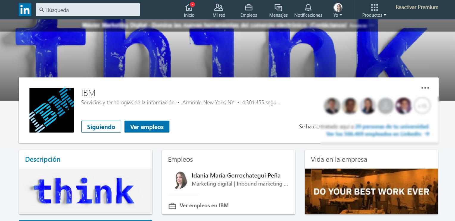 IBM Descripción LinkedIn
