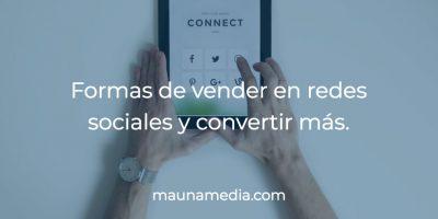 formas de vender en redes sociales