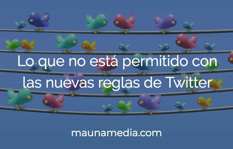 las reglas de twitter