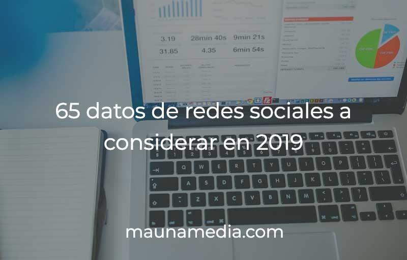 estadisticas de redes sociales 2019