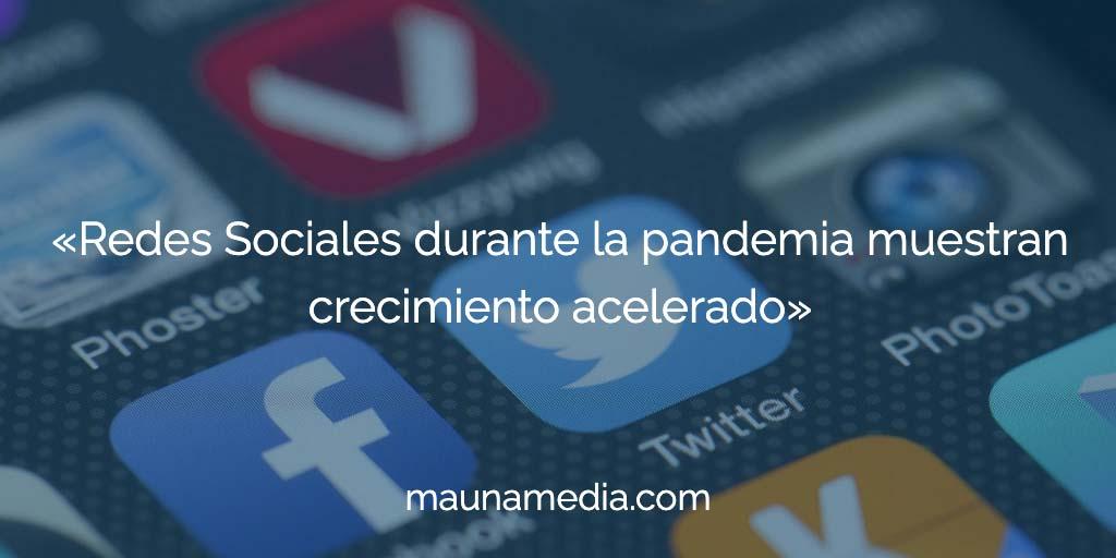 redes sociales en pandemia