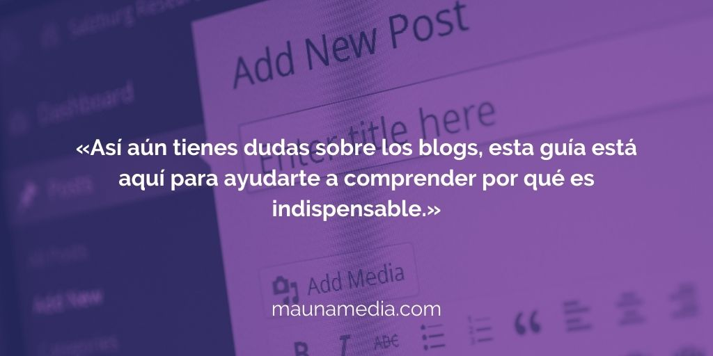 escribir un blog post