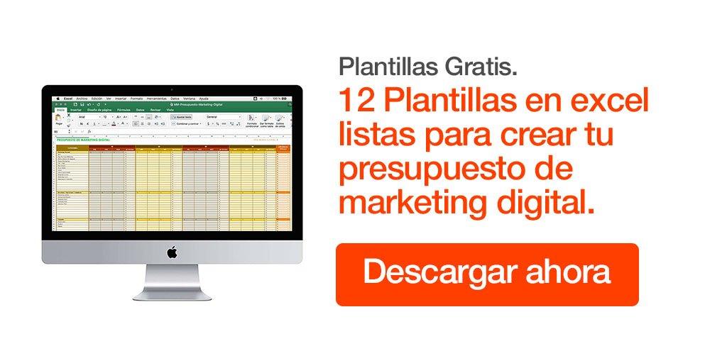 Plantilla Presupuesto de Marketing Digital